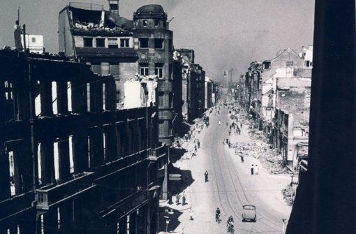 Kaum noch alte Gebäude an der oberen Königstraße