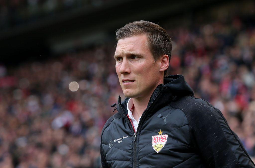 Trainer Hannes Wolf hat vor dem Hannover-Spiel in der Pressekonferenz gesprochen. (Archivbild) Foto: Pressefoto Baumann