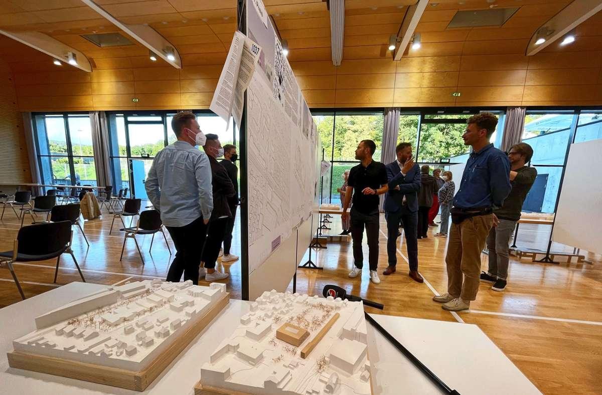 Die Jury hat entschieden. In der Stauferlandhalle können sich die Besucher einen Eindruck von den Vorschlägen  machen. Foto: Staufenpress