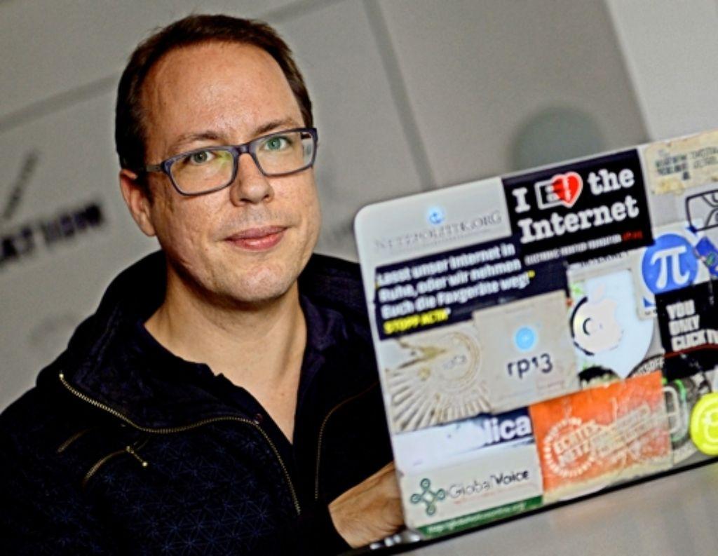 """Der Netzaktivist Markus Beckedahl hat """"Netzpolitik.org"""" gegründet. Foto:"""