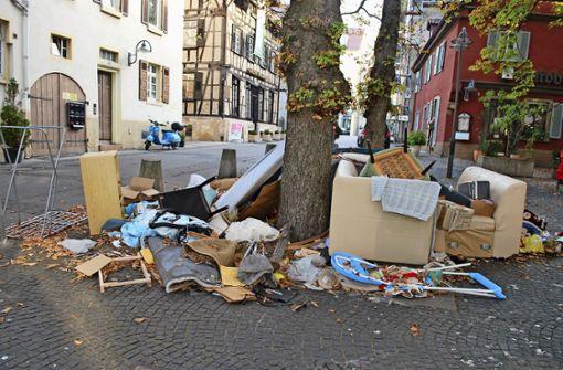 Wilder Müll am Jakobsbrunnen