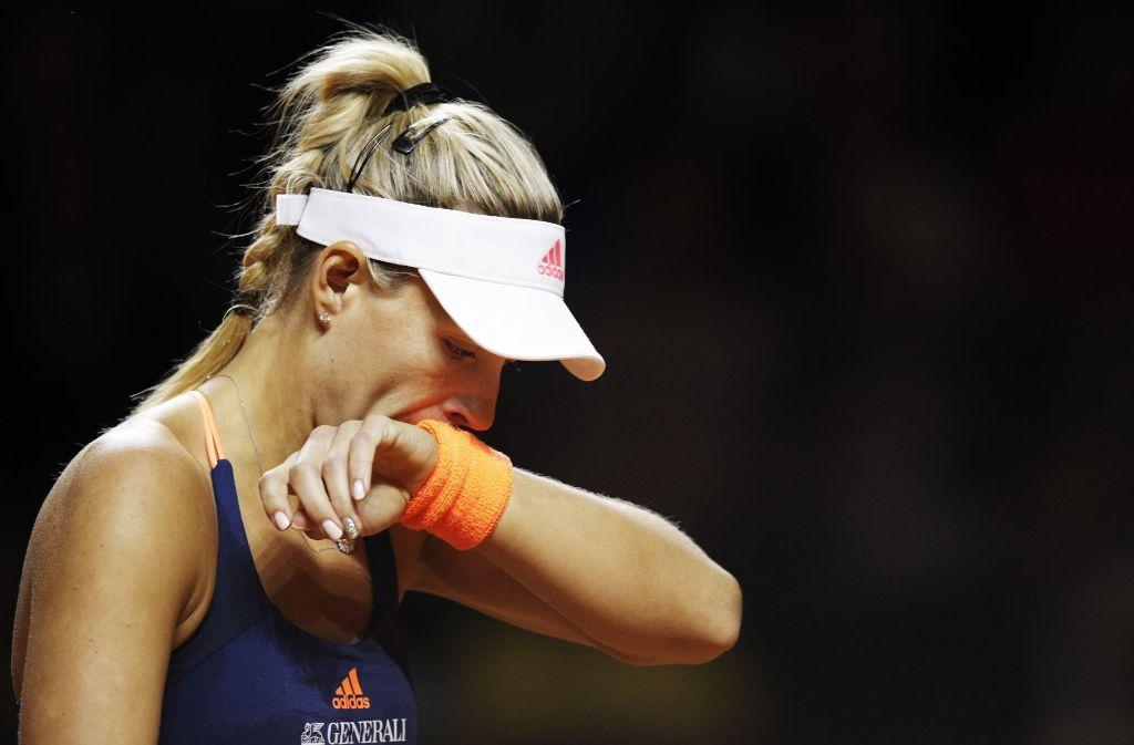 Nach nur einem Match war für Angelique Kerber das Turnier in Stuttgart beendet. Foto: Bongarts