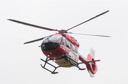 Rettungshubschrauber bei Unfall im Einsatz