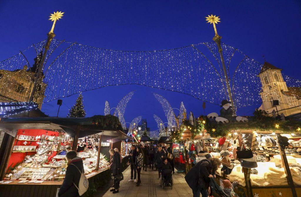 Händler und Stadt ziehen ein positives Fazit zum Weihnachtsmarkt in Ludwigsburg. Foto: factum/Simon Granville