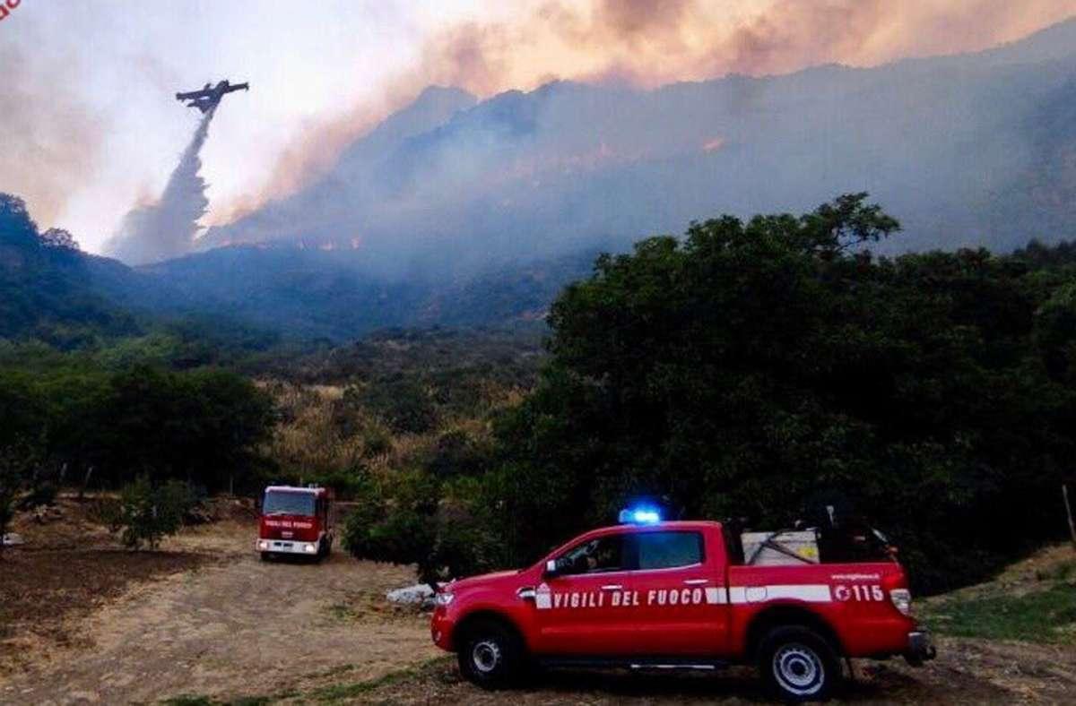Waldbrände auf Sizilien Foto: dpa