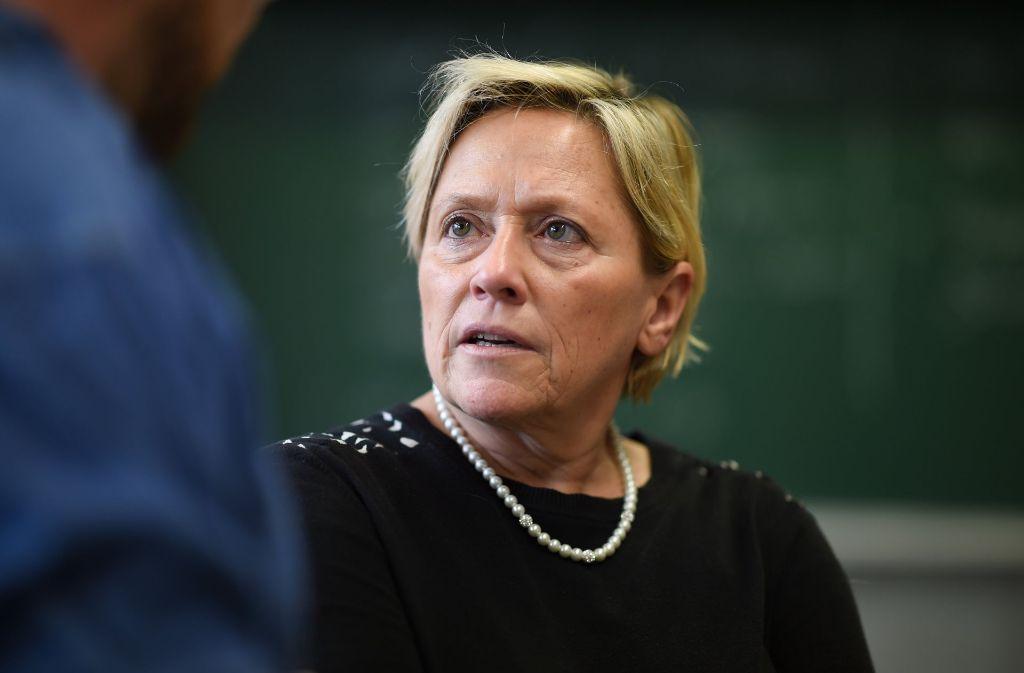 Susanne Eisenmann sendet ein doppeldeutiges Signal. Foto: dpa