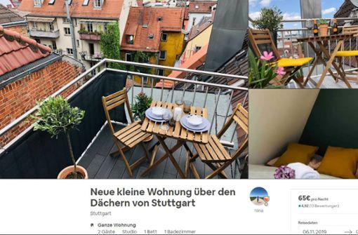 Stuttgart nimmt Ferienwohnungen genauer ins Visier