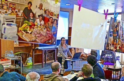Claudia Patricia Ghitis referierte über Landwirtschaft in Kolumbien. Foto: Petra Mostbacher-Dix