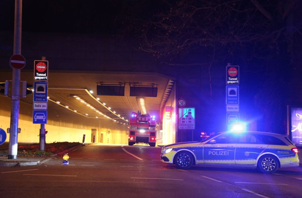 Der Heslacher Tunnel musste am Samstagabend nach einem Unfall in stadtauswärtiger Richtung gesperrt werden. (Archivbild) Foto: 7aktuell.de/Sven Adomat/www.7aktuell.de/Sven Adomat