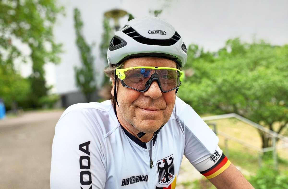 Uwe Rohde am  Pragsattel Foto: Decksmann