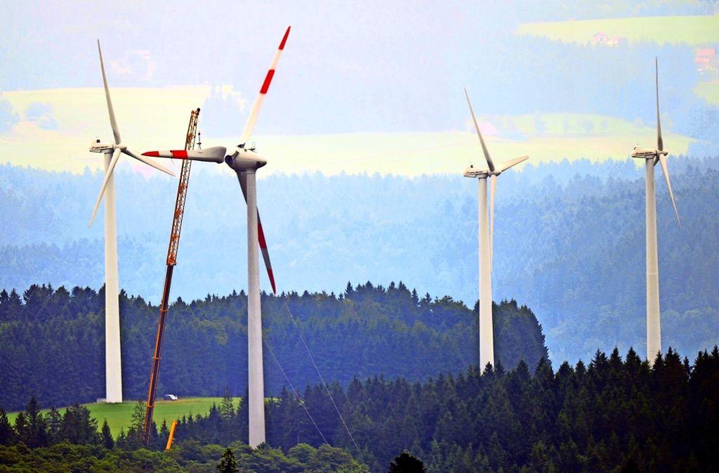 Viele Windräder stehen im Wald – ein Fall für den Forstminister, findet Peter Hauk. Foto: dpa