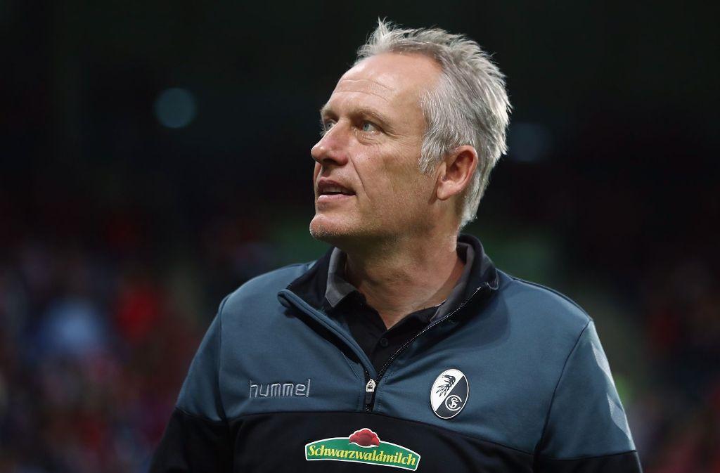 Christian Streich, Trainer des SC Freiburg Foto: Bongarts
