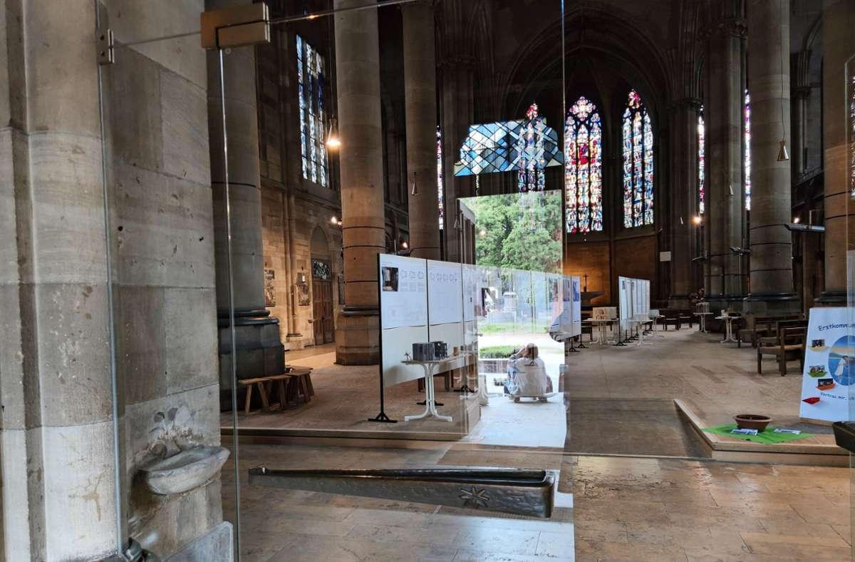 Die Entwürfe werden in St. Maria ausgestellt. Foto: Kathrin Wesely
