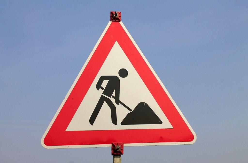 Die  Baustelle in Höfingen dauert bis Mitte April. Foto: