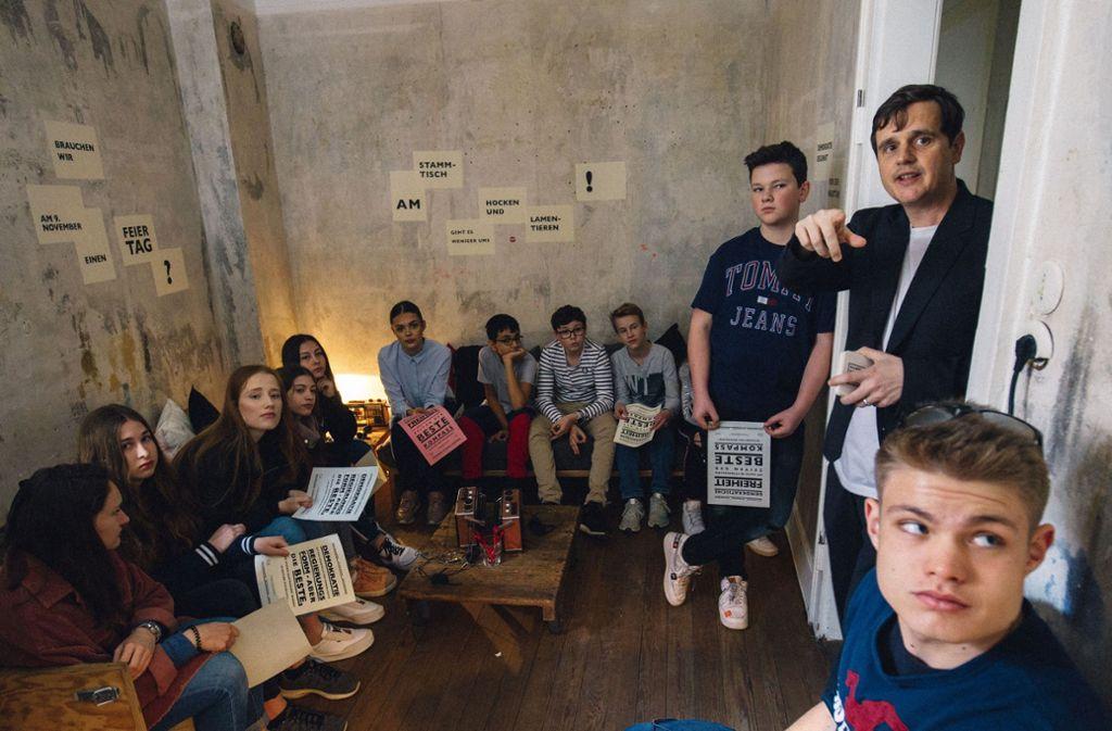 """Die StZ hat für die lange Nacht der Museen Podcasts produziert, die in der """"Herberge der Demokratie"""" zu hören waren. Foto: Lichtgut/Leif-H.Piechowski"""