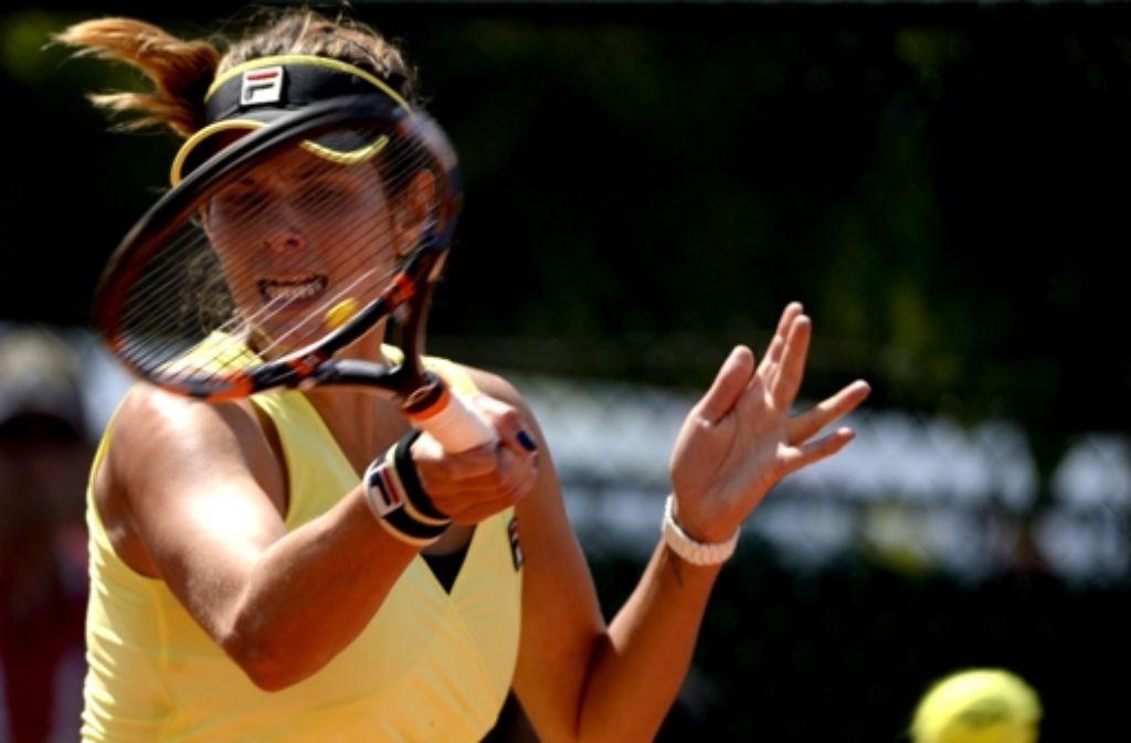 Julia Görges hält die deutsche Tennis-Ehre bei den French Open hoch.  Foto: EPA