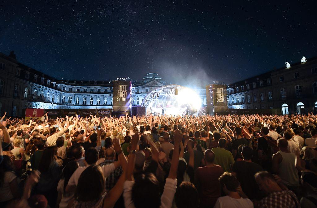 Magische Momente bei den Jazzopen-Stuttgart-Konzerten auf dem Schlossplatz. Foto: Opus