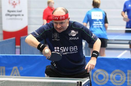 Hartmut Freund spielt bei Special Olympics