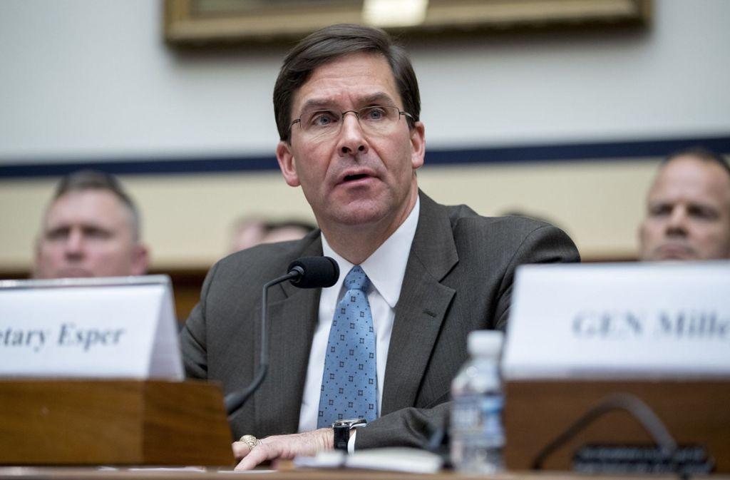 Mark Esper soll kommissarisch das Amt des US-Verteidigungsministers übernehmen. Foto: AP
