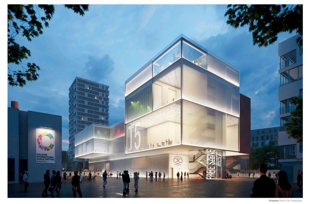 So soll der Ergänzungsbau des Theaterhauses aussehen, der 2025 eröffnet werden soll.Foto: pfp architekten Foto: