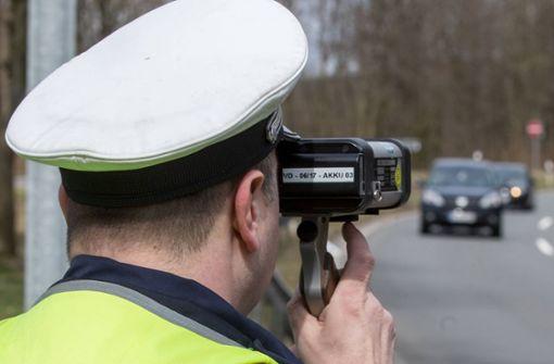 Polizei erwischt zahlreiche Temposünder