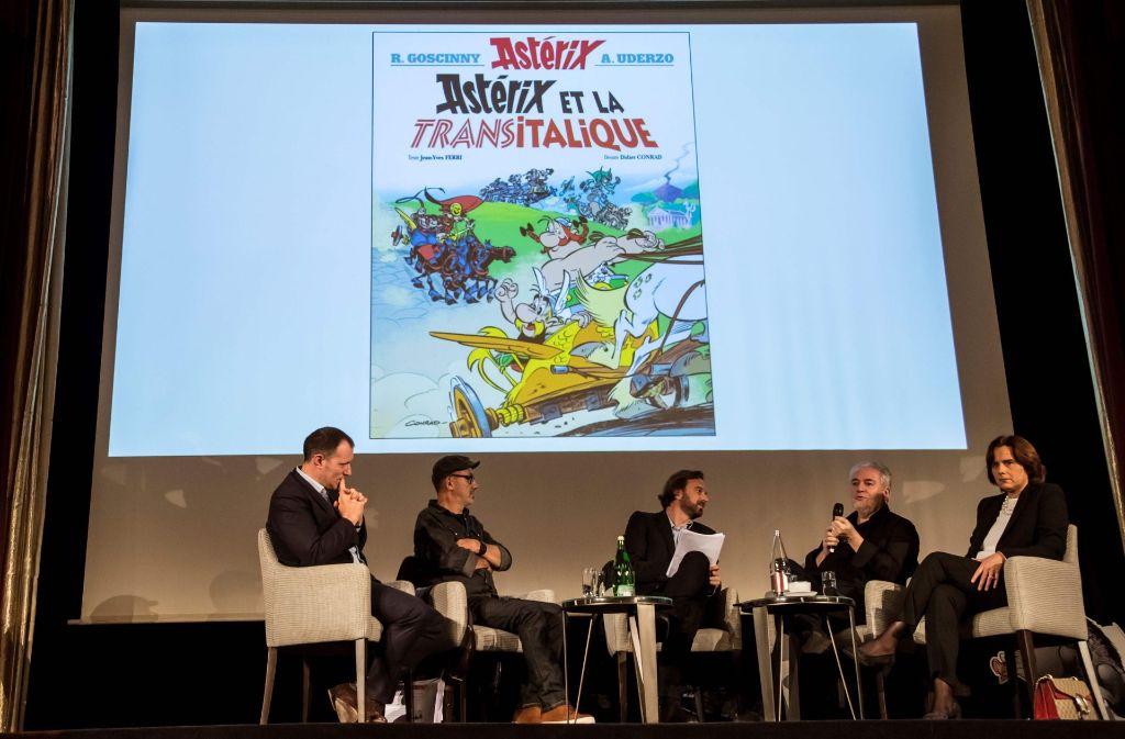 "Die Cover-Vorstellung des 37. Asterix-Bands ""Asterix in Italien"". Foto: AFP"