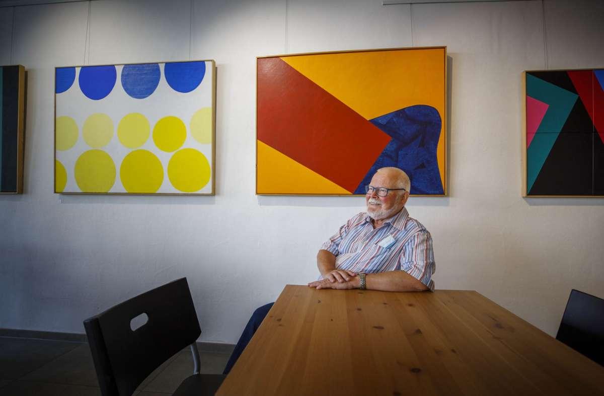 Formen sind Impulsgeber für Hans Komms künstlerische Arbeit. Foto: Gottfried Stoppel