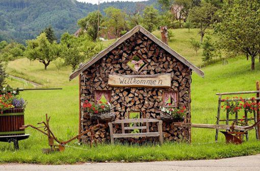 Charmante Holzhütten und grüne, idyllische Wiesen kann man während der Radtour durch den Schwarzwald bestaunen.