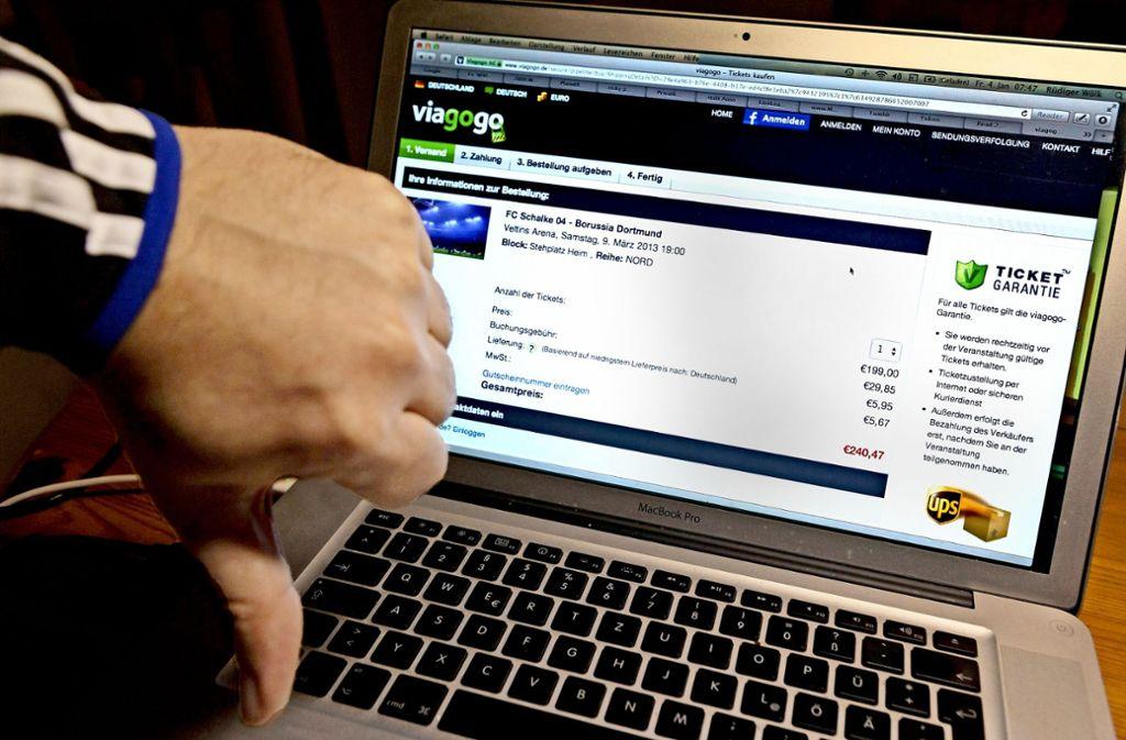 Verbraucherschützer gehen gegen  Viagogo  vor. Foto: imoago sportfotodienst