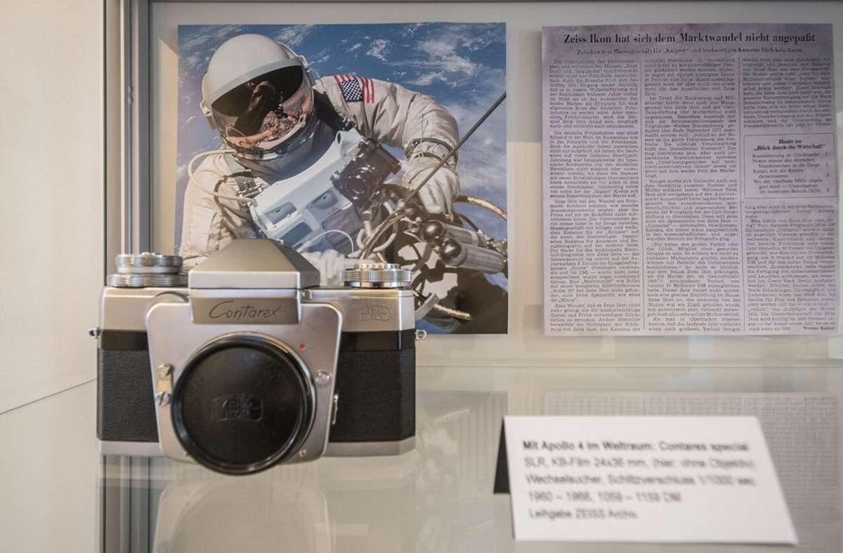 Die  legendäre Contarex-Kamera  aus Heslach war klein und solide. Foto: Wolfgang  Jaworek