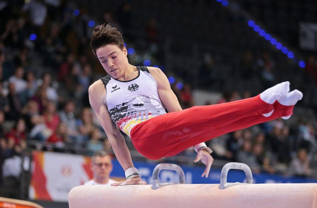 Marcel Nguyen und Lukas Dauser können sich wohl bald auf die Europameisterschaft in Stettin freuen. Foto: Pressefoto Baumann