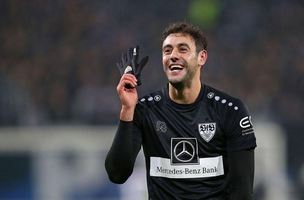 Er kam, sah und traf mit seinem zweiten Ballkontakt: VfB-Stürmer Hamadi Al Ghaddioui. Foto: Pressefoto Baumann/Cathrin Müller