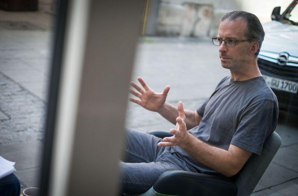 Er hat viel vor: Robin Bischoff vom Kunstverein Wagenhalle Foto: Lichtgut/Max Kovalenko