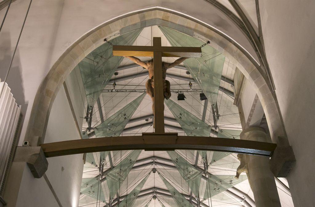 Die Decke der Stuttgarter Stiftskirche, Hauptkirche der Evangelischen Landeskirche in Württemberg. Foto: Lichtgut/Leif Piechowski