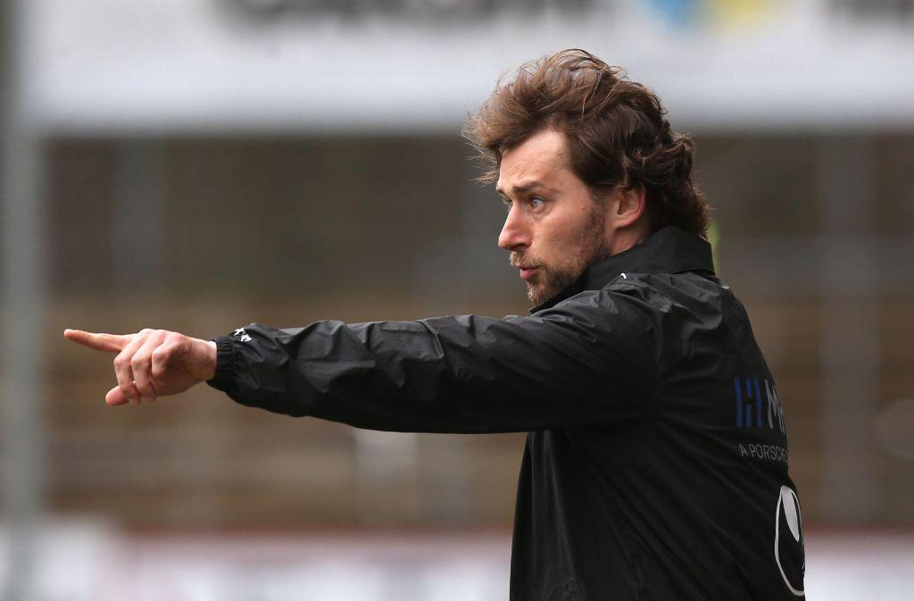 Der Trainer der Stuttgarter Kickers, Tomasz Kaczmarek, hofft auf den zweiten Heimsieg in Folge. Foto: Pressefoto Baumann