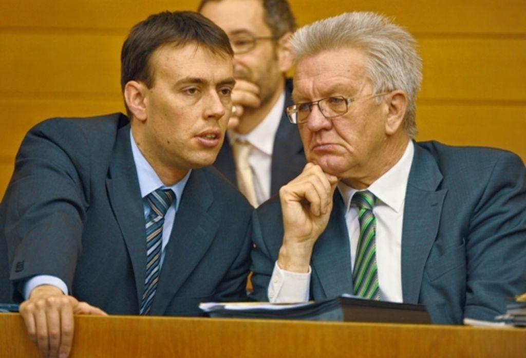 Nils Schmid (SPD) und Winfried Kretschmann (Grüne) Foto: dpa