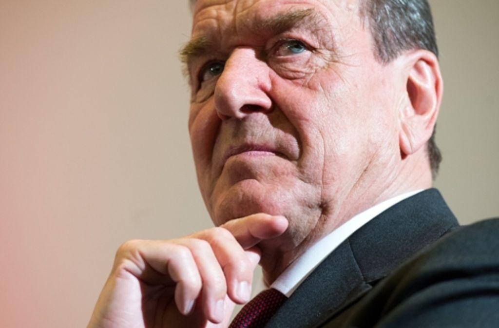 Gerhard Schröder gilt als Freund Putins. Foto: dpa