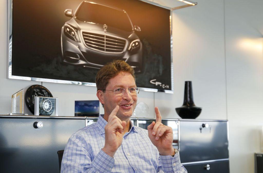 Mercedes-Entwicklungschef Ola Källenius rechnet mit einem starken Wachstum des E-Auto-Absatzes bis zur Mitte des nächsten Jahrzehnts. Foto: factum/Granville