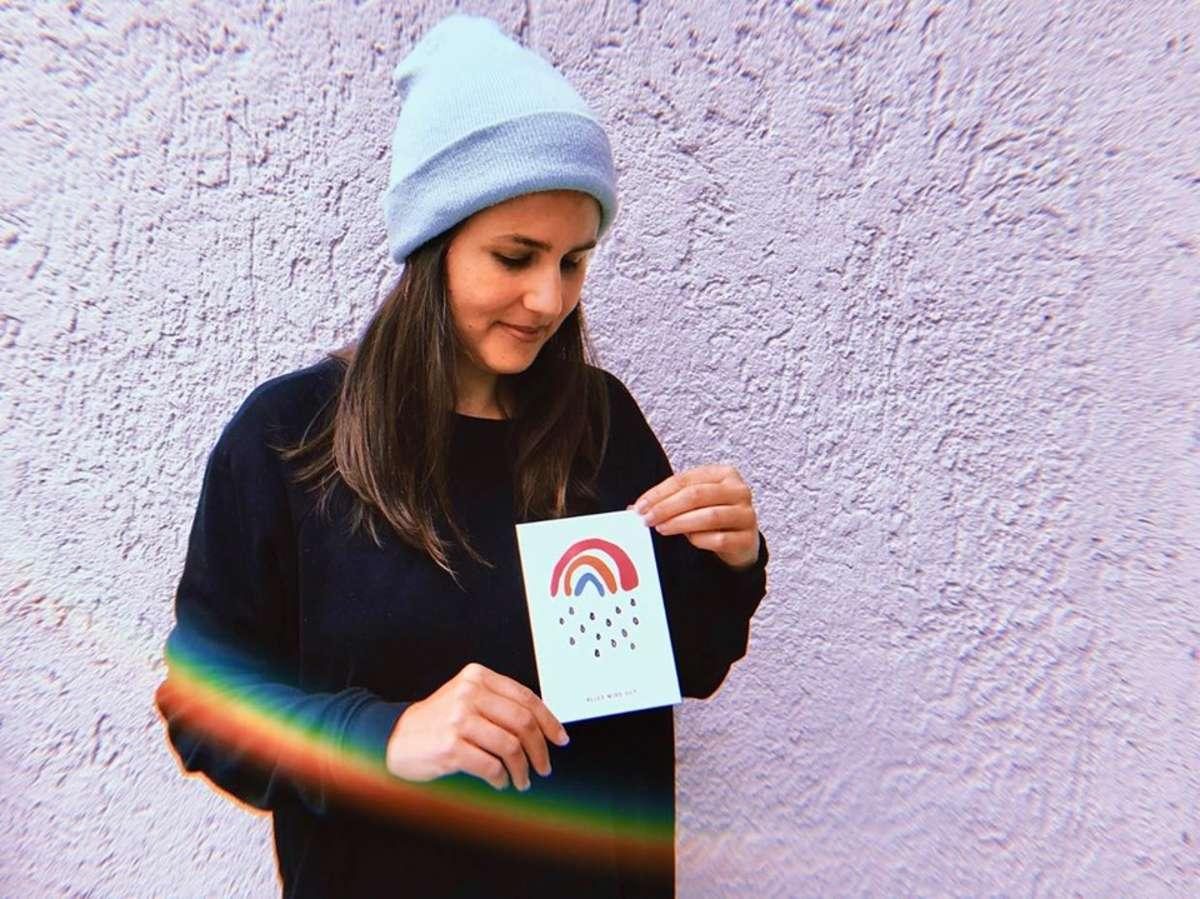 Sarah Gilgien will den Menschen mit dem Kleinen Regenbogen eine Freude, Mut und Hoffnung machen. Denn: Alles wird gut! Foto: Tanja Simoncev
