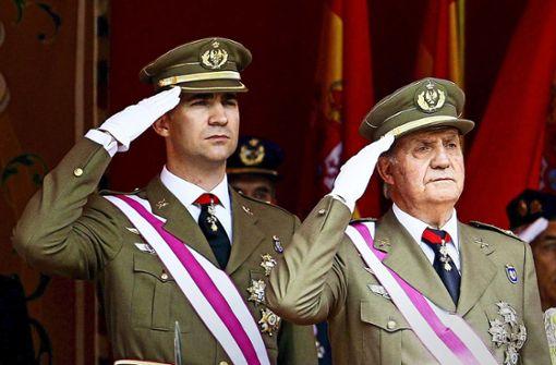 König Felipe bricht mit Vater  Juan Carlos