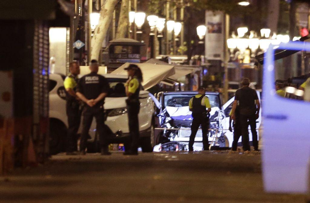 Der Ort des Grauens: die beliebte Flanierstraßen der Ramblas in Barcelona Foto: AP
