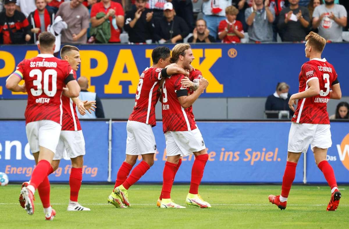 Freiburg zeigte gegen Augsburg eine Galavorstellung. Foto: dpa/Philipp von Ditfurth