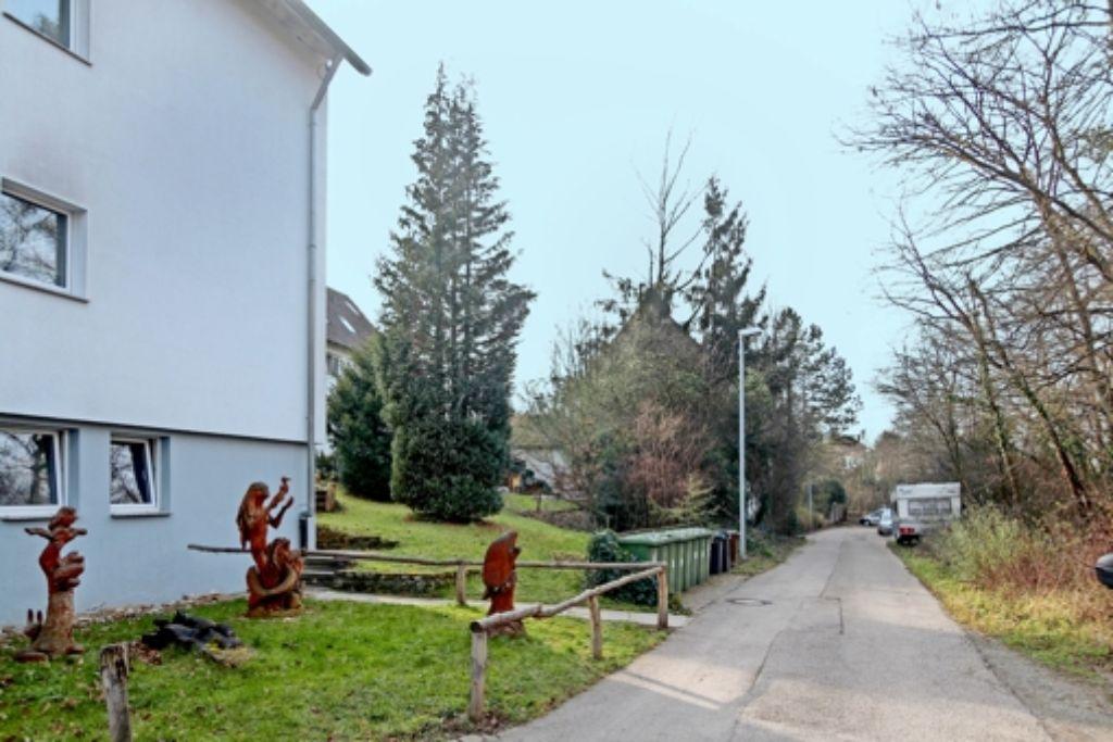 Neben  den vorhandenen Häusern am Gerlinger Tor entsteht  ein neues. Foto: factum/Granville