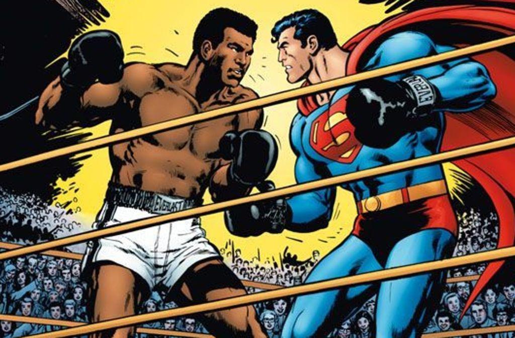 "Das Cover des Comicprachtbands ""Superman vs. Muhammad Ali"", der im Stuttgarter Panini-Verlag erschienen ist. Foto: DC/Panini Comics"