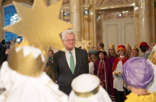 Ministerpräsident Kretschmann empfängt Sternsinger