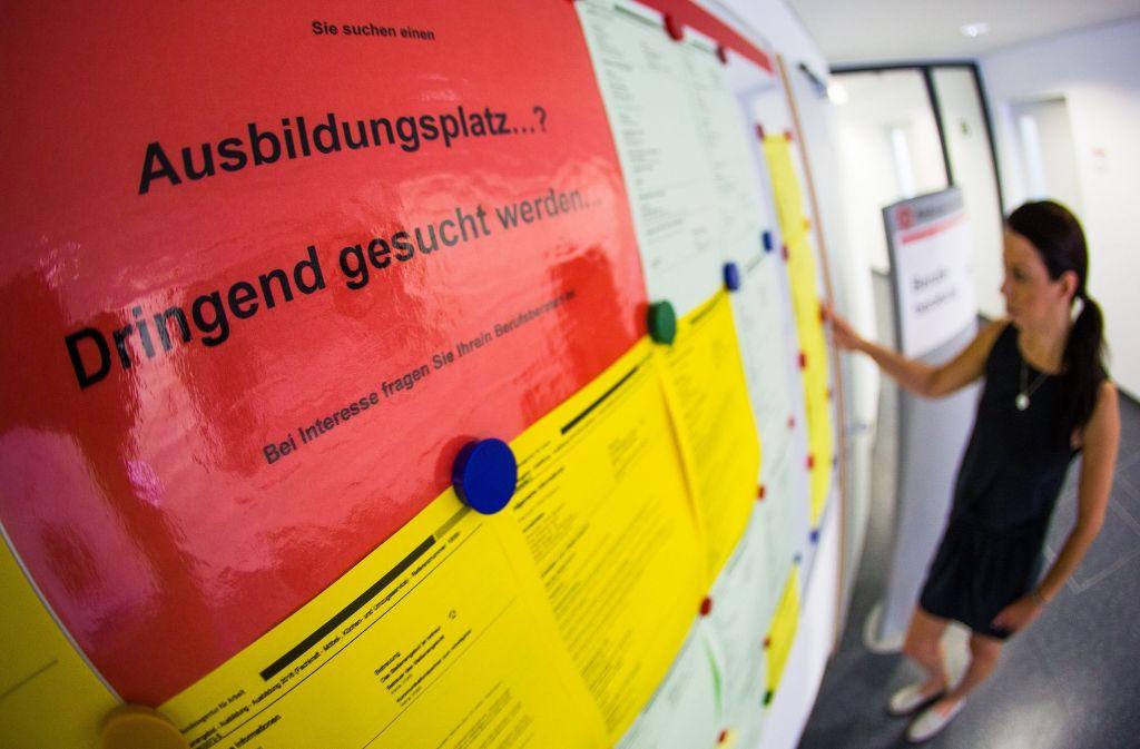 Die Stadt Filderstadt wirbt mit guten Chancen auf Festanstellung für ihre Ausbildungsplätze Foto: dpa