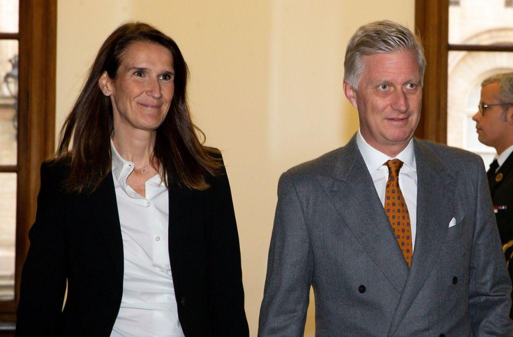 Nur geschäftsführend  im Amt: Der belgische König Philip sucht händeringend nach einer tragfähigen belgischen Regierung. Die neue Ministerpräsidentin Sophie Wilmes ist nur eine Übergangskandidatin. Foto: AFP/NICOLAS MAETERLINCK