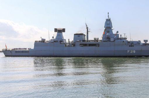 Bundeswehr-Schiff bei Unfall mit Rakete beschädigt