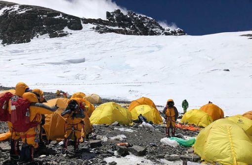 So zugemüllt ist der  Mount Everest