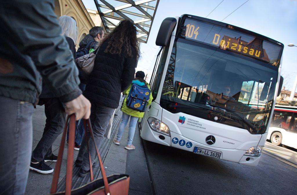Die Busse mit dem Calwer Kennzeichen fahren bald nicht mehr durch Esslingen. Foto: /Ines Rudel